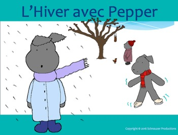 Winter with Pepper in French