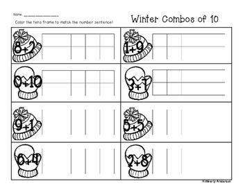 Winter/Christmas Winter Goodies Combos of Ten - Number Sense
