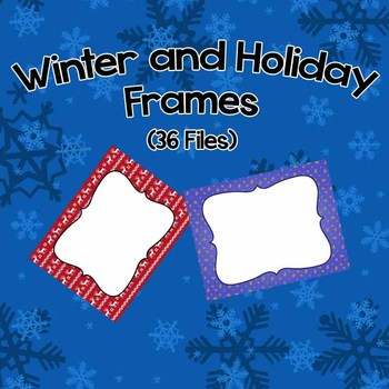 Winter/Holiday Frame Pack