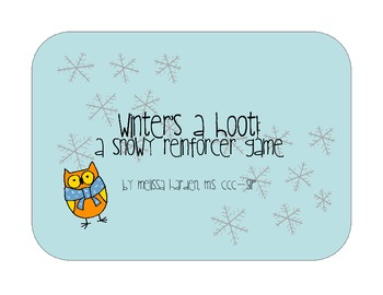 Winter's a Hoot!: An open-ended reinforcer game