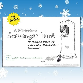 Wintertime Scavenger Hunt FREEBIE