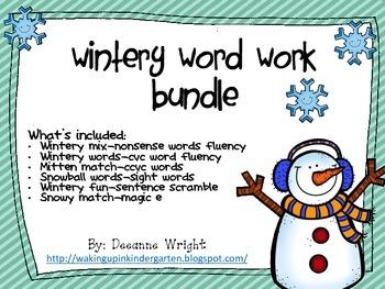 Wintery Word Work Bundle