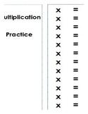 Wipe off Multiplication Practice Booklet
