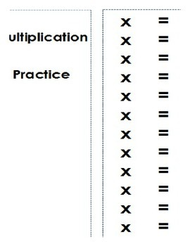 Wipe off Multiplication Practice Booklet