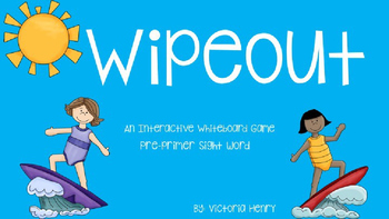 Wipeout Pre-Primer Sight Words Interactive Game