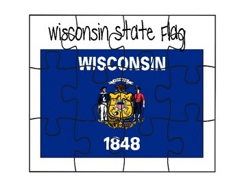 Wisconsin Flag Puzzle