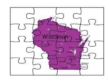 Wisconsin Map Puzzle