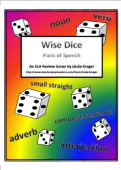 Wise Dice-Parts of Speech! A Review Game and Assessment Tool!