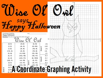 Wise Ol' Owl - Coordinate Graphing Activity
