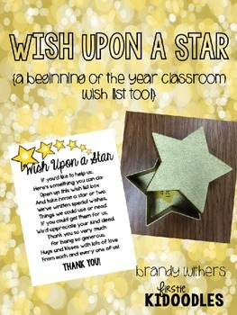 Wish Upon a Star {A Beginning of the Year Classroom Wish L