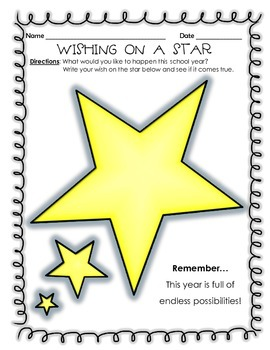 Wishing on a Star - Back to School Wishes for the New Year!