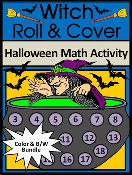 Witch Activities: Witch Roll & Cover Halloween Math Activi