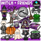 Witch And Friends Clip Art Bundle