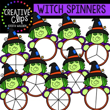 Witch Spinners {Creative Clips Digital Clipart}