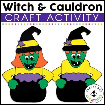 Witch and Cauldron Cut and Paste