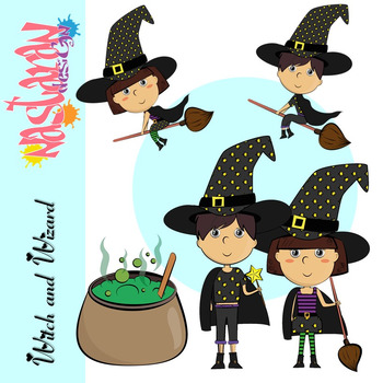 Witch and Wizard Clipart
