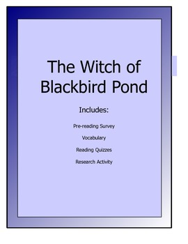 Witch of Blackbird Pond novel packet - Vocab, Quizzes, Activities