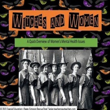 Witches And Women (The Yellow Wallpaper Charlotte Perkins