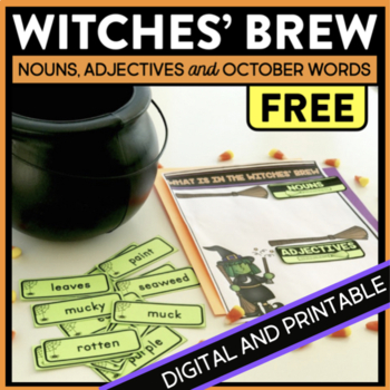 Witches' Brew Descriptive Writing Adjective Activity
