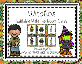 Witches~ Editable Write the Room