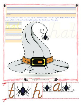Witch's Hat Tracing and Cutting - Fine Motor Skills Practi