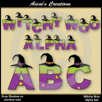 Witchy Woo Alpha & Numbers Clip Art Set