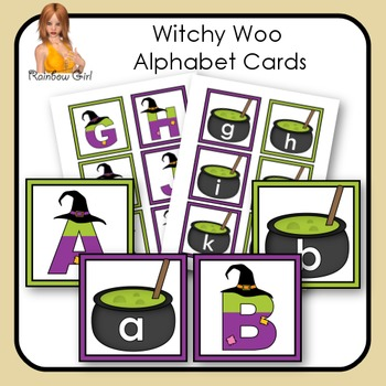 Witchy Woo Alphabet Cards