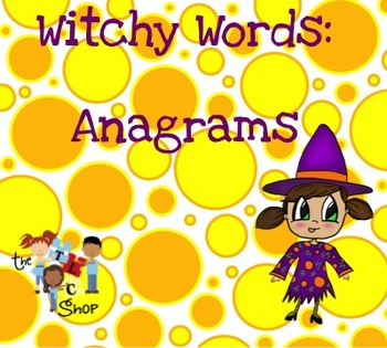 Witchy Words: Anagrams {SmartBoard Activity}