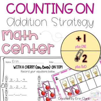 With a Cherry (or Two) on Top! {Counting On, Plus 1 and Plus 2}