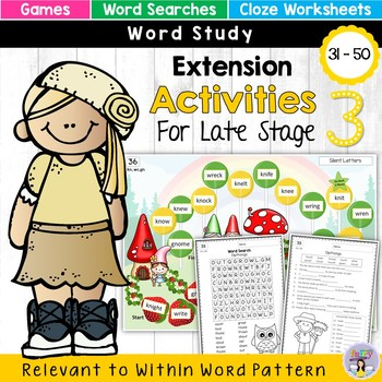 Within Word Pattern Games & Worksheets (Unit 10) - Homophones