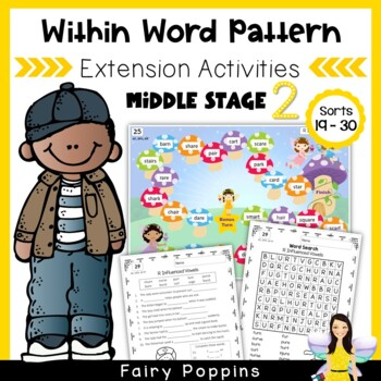 Within Word Pattern Games & Worksheets (Unit 5) R Influenc