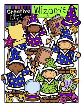 Wizard KIDS {Creative Clips Digital Clipart}