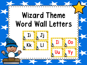 Wizard Theme Word Wall Letters