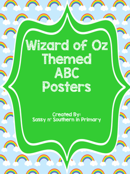 Wizard of Oz ABC Posters (Rainbows)