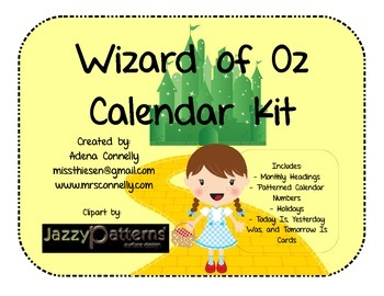 Wizard of Oz Calendar Kit