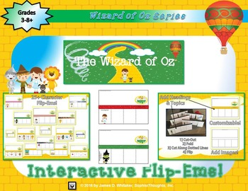 Wizard of Oz Character Analysis Flip-Ems