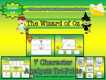 Wizard of Oz Character Analysis Tri-Folds & Graphic Organizers