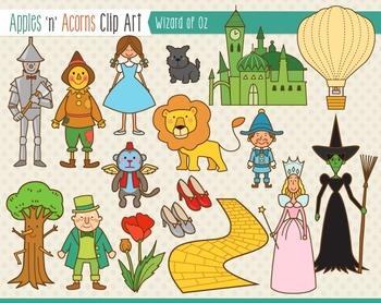 Wizard of Oz Clip Art - color and outlines