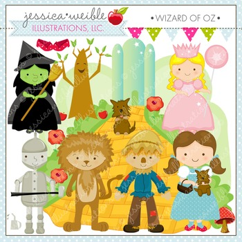 Wizard of Oz Cute Digital Clipart, Dorothy Clip Art, Yello