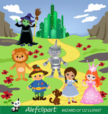 Wizard of Oz Digital Clipart, Wizard of Oz Clipart coloring book,