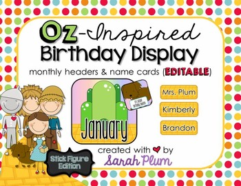 Wizard of Oz Inspired Birthday Display {Stick Figure Edition}