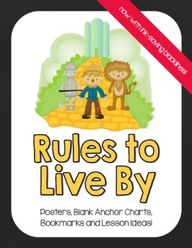 """Wizard of Oz Inspired """"Rules to Live By"""" - Chalkboard Theme"""