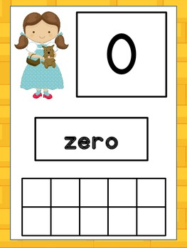 Wizard of Oz Number Cards