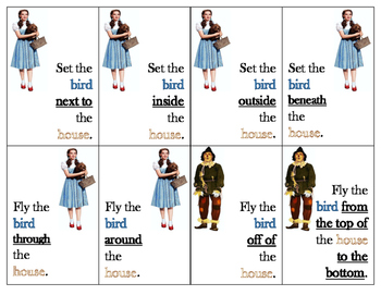 Wizard of Oz Prepositions of Location and Following Direct