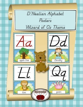 Wizard of Oz Theme D'Nealian Alphabet