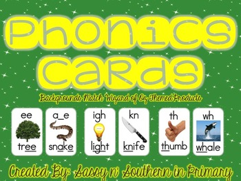 Wizard of Oz Themed Phonics Cards (Emerald City Green)