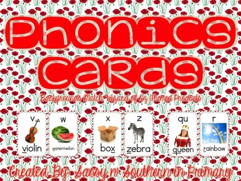 Wizard of Oz Themed Phonics Cards (Red Poppy Flowers)