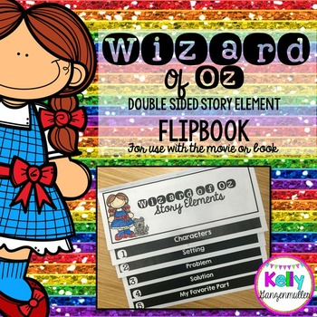 Wizard of Oz *double sided* Story Elements Flip book