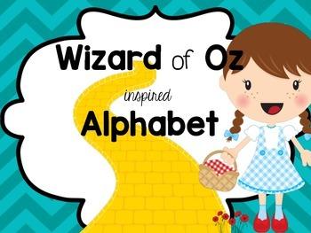 Wizard of Oz inspired alphabet cards