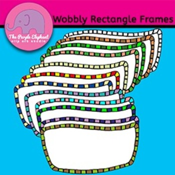 Wobbly Rectangle Frames in 12 Colors
